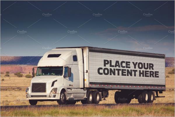 HD Truck Mockup Design