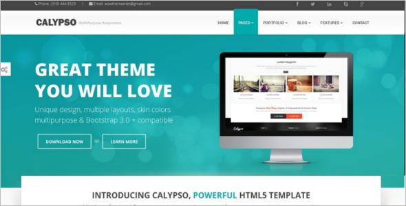 HTML Bootstrap Design Template