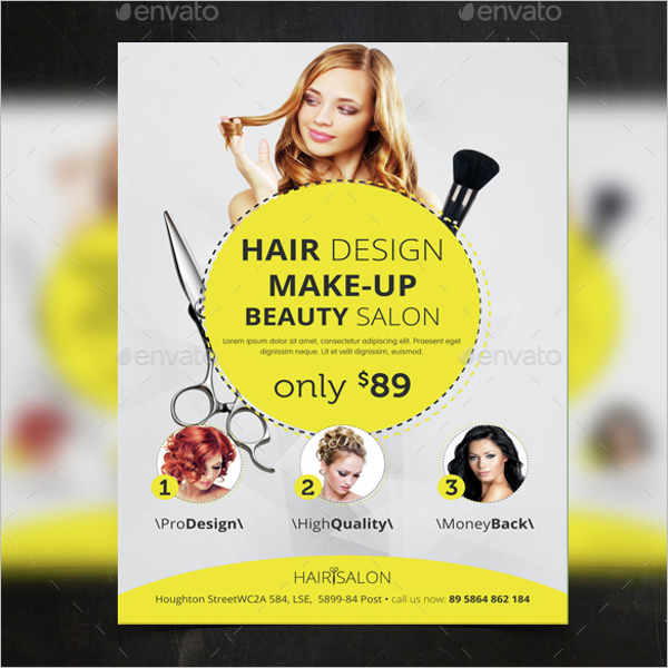 Hair & Beauty Salon Flyer Template