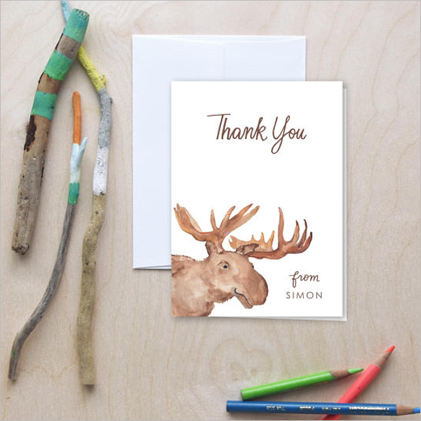 Hand Drawn Kids Thank You Card Design