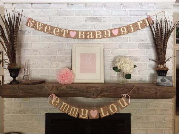 Hand Made Baby Shower Banner Design