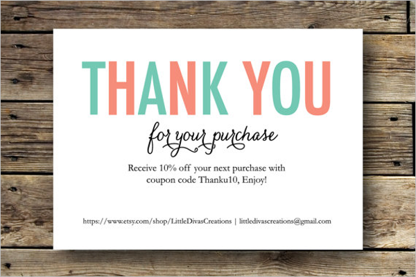 Business Thank You Card Templates Free