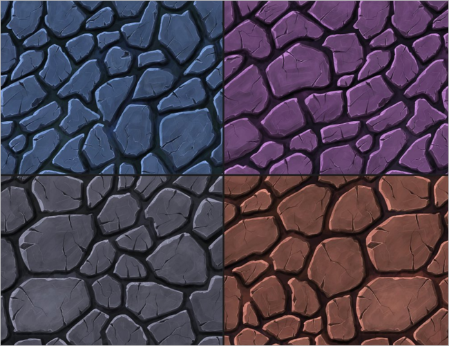 Handpainted Stone 3D Texture Design