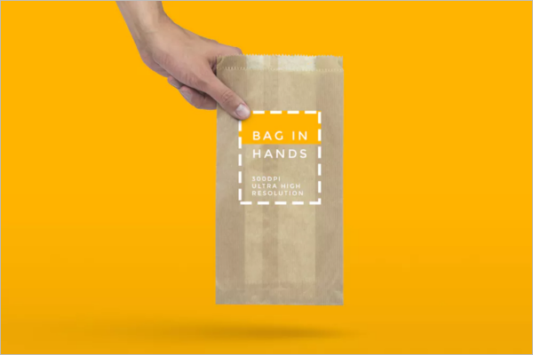 Handy Paper Bag Mockup Design