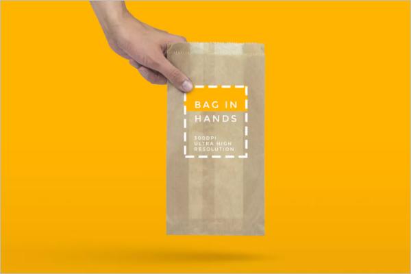 Handy Paper Bag Mockup Design