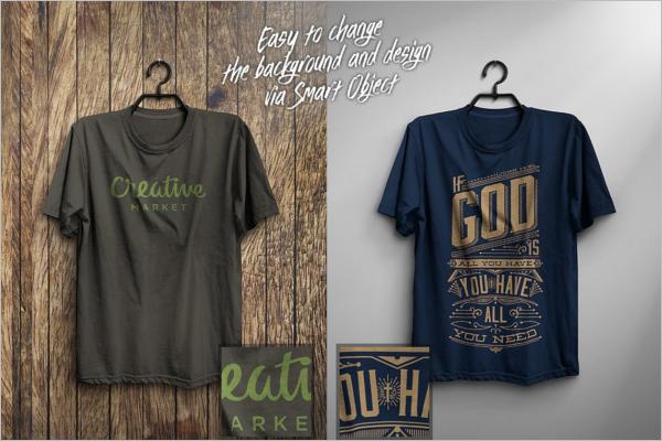 Hanging T-Shirt Mockup Design