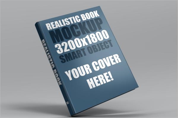 Hard Cover Book Mockup Template
