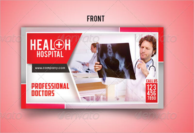 Health Hospital Business Card Template