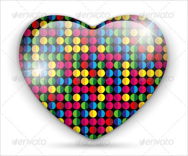 Heart Shaped Glass Texture Design
