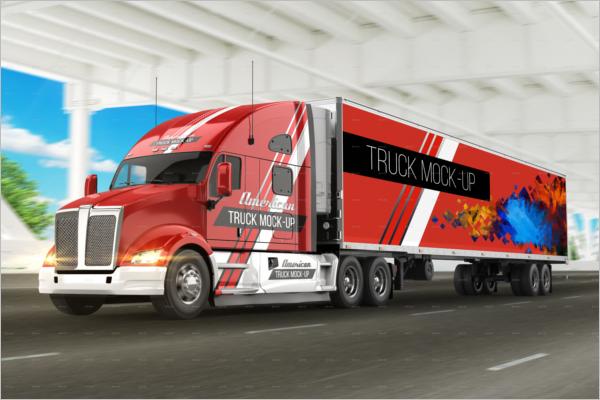 Heavy Load Truck Mockup Design