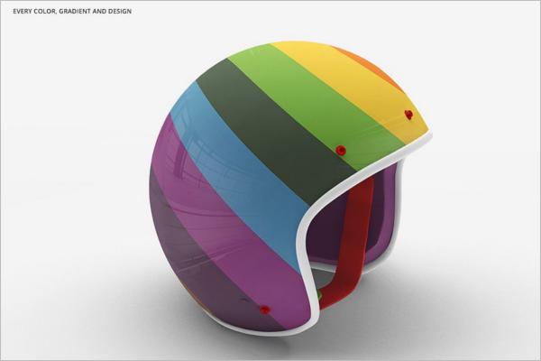 Helmet Moto Mockup