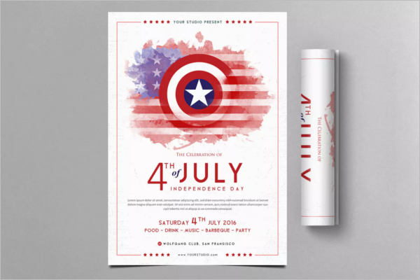 High-Quality Flag Flyer Template