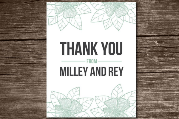 High Quality Floral Thank You Card Design