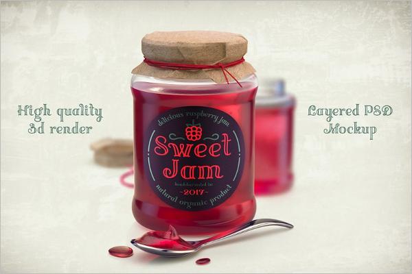 High Quality Jar Mockup