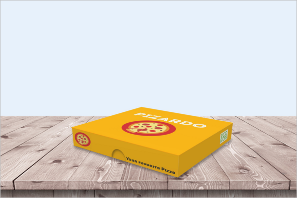 High Quality Pizza Box Mockup