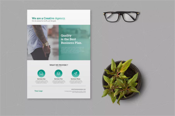 High Quilty Small Business Flyer Template