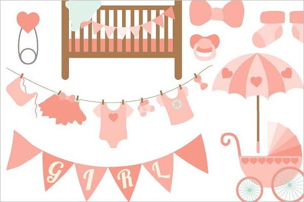 High Resolution Baby Shower Banner Template