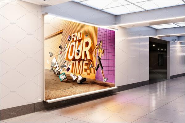 High Resolution Billboard Mockup Design