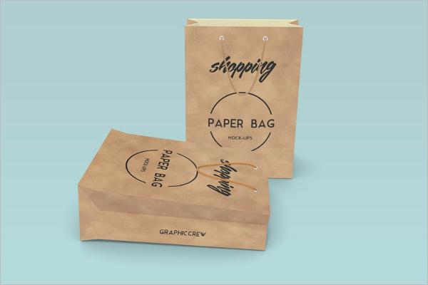 High Resolution Paper Bag Mockup Design