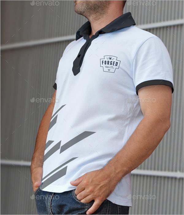 High Resolution Polo T-Shirt Mockup