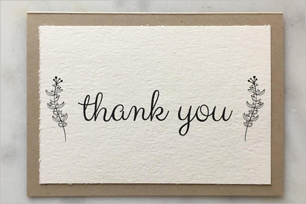 30 blank thank you card templates free word designs