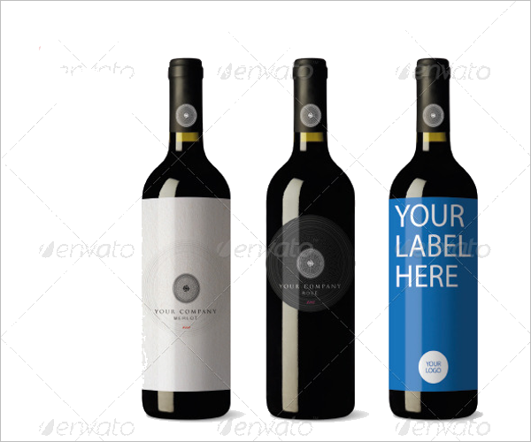 High Resolution Wine Bottle Mockup
