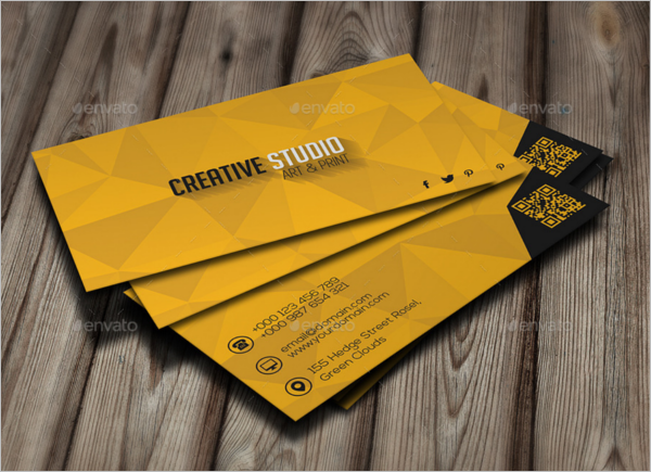 High Resolution Yellow Business Card Design