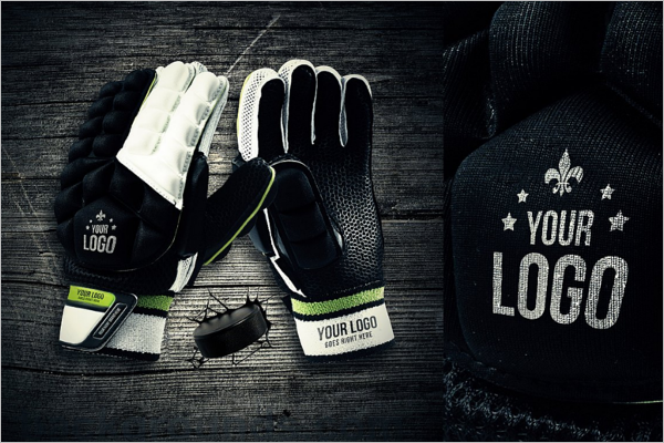 Hockey Glove Mockup Design