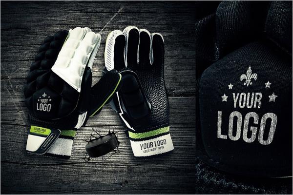 Hockey Glove Mockup Design