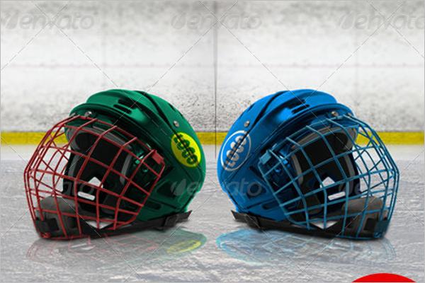 Hockey Helmet Mockup