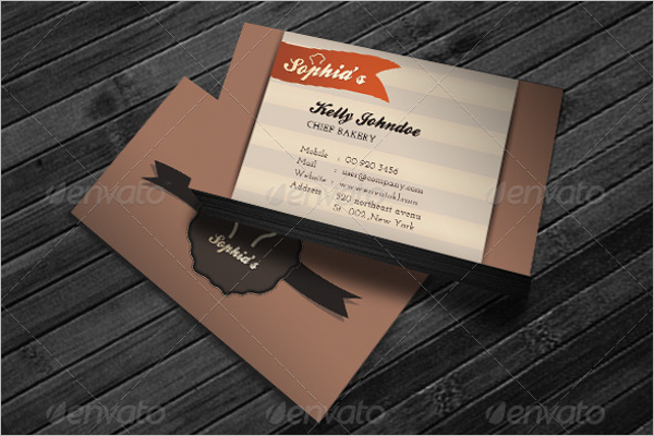 Honey Bakery Business Card Design