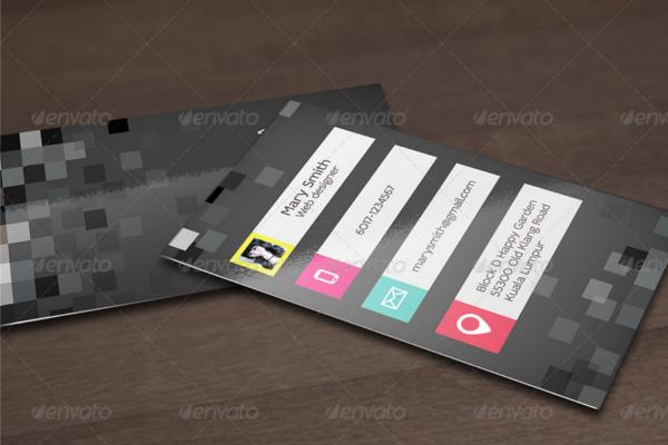Horizantal Design Business Card Template