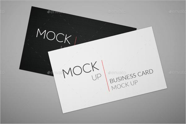 Horizantal Visiting Card Mockup Design