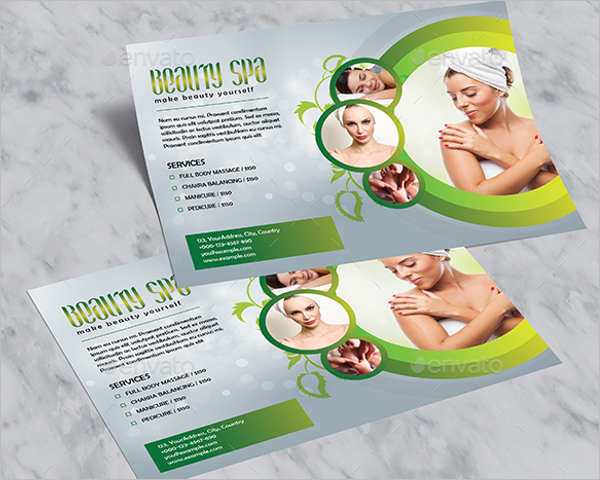 Horizontal Beauty Salon Flyer Design