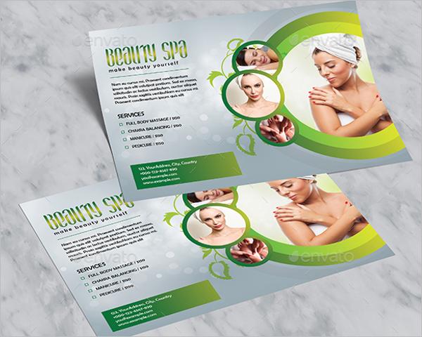 Horizontal Beauty Salon Flyer Design