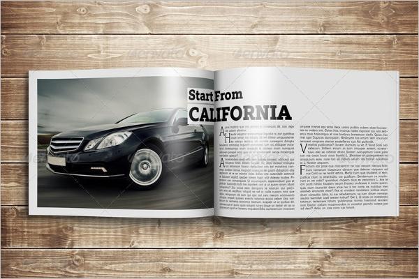 Horizontal Letter Magazine Mockup Design
