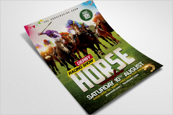 Horse Racing Flyer Template