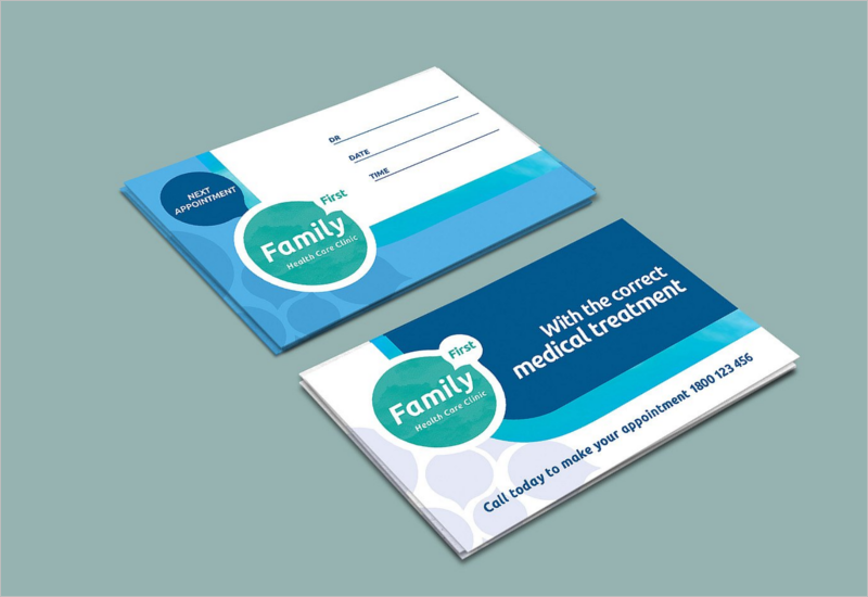 Hospital Clinic Business Card Template