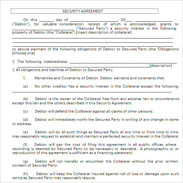House Rent Agreement Form Template