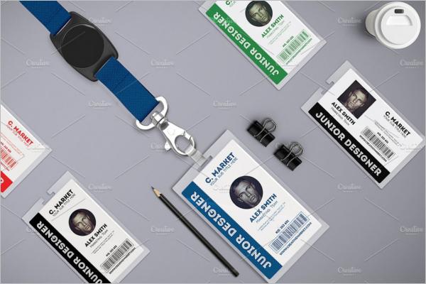 ID Badge Mockup Design