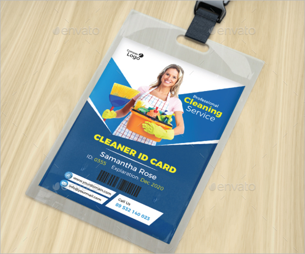ID Card Design For Cleaner