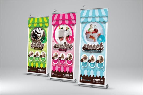 Ice Cream Banner Template