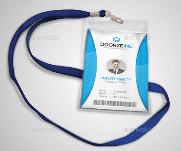 Identity Card Design Template