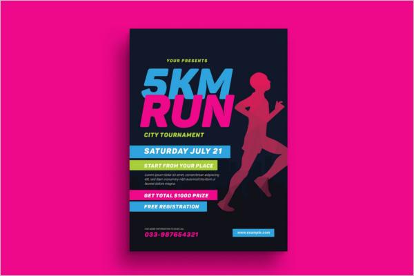 Illustration Sports Event Flyer Template