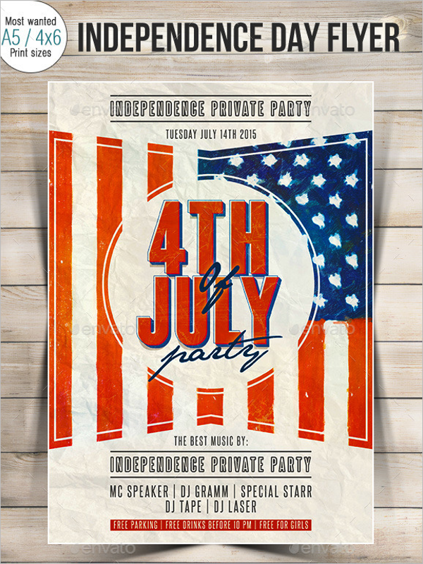 Independence Flag Flyer Template