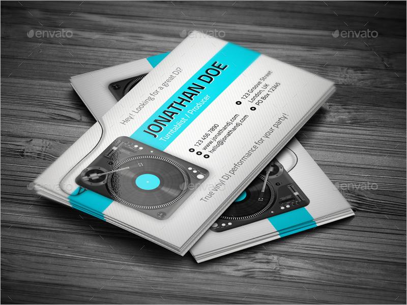 Individual Dj Business Card Design