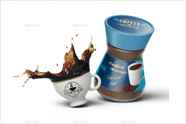 Instant Coffee Jar Mockup