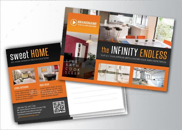 Interior Design Postcard Template