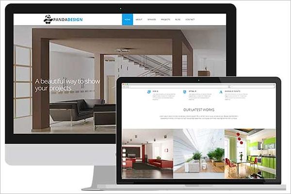 Interior Website Design Template