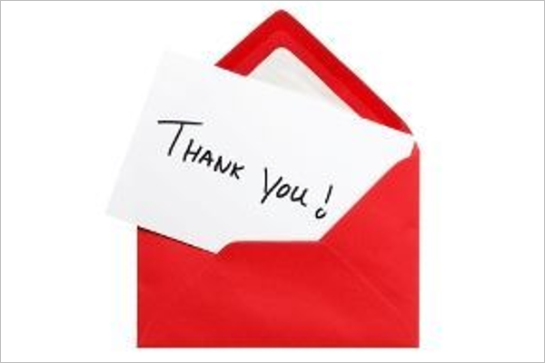 Internal Interview Thank You Email Template